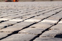Red Square. Regular brick floor. Red Square, Moscow Royalty Free Stock Photo