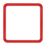 Red square rope frame Royalty Free Stock Image