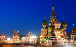 Red Square and Saint Basil's Cathedral in Moscow Royalty Free Stock Photography