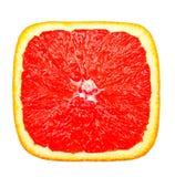 Red square slice of orange Royalty Free Stock Image