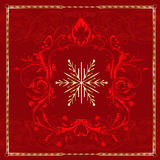 Red Square Snowflake Royalty Free Stock Photo