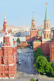 Red Square, Spasskaya Tower and Mausoleum Royalty Free Stock Image