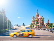 Red square and St. Basil Cathedra Stock Image