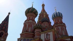 Moscow. Red square. The views of St. Basil`s Cathedral. stock footage