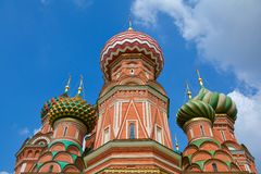 Red Square. St. Basil's Cathedral on Red Square. Moscow, Russia Royalty Free Stock Photography