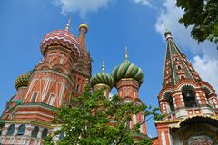 Red Square. St. Basil's Cathedral on Red Square. Moscow, Russia Stock Images