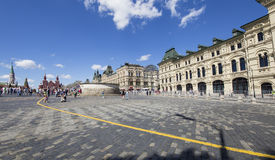 Red Square on a summer sunny day, Moscow, Russia Stock Photos