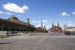 Red Square on a summer sunny day, Moscow, Russia Stock Images