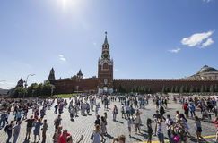 Red Square on a summer sunny day, Moscow, Russia Royalty Free Stock Photos