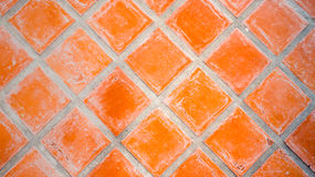 Red Square Tile Stock Image