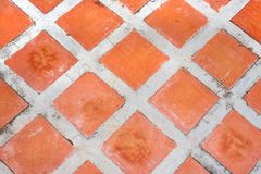 Red Square Tile Pattern. royalty free stock photography