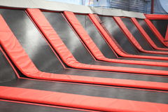 Red square Trampoline Royalty Free Stock Image