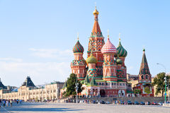 Red Square with Vasilevsky descent in Moscow royalty free stock photo