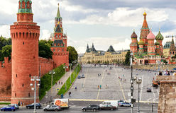 Red Square with Vasilevsky descent in Moscow Royalty Free Stock Photos