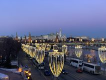 The Red Square. View from the Patriarchal bridge royalty free stock photography