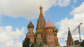 Red square, view of St. Basil`s Cathedral stock photos