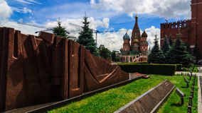 Red Square. A walk on a sunny day at the Red Square near the Kremlin Royalty Free Stock Photos