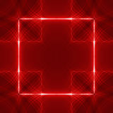 Red square wave back Stock Photos