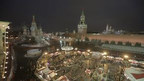 Red Square in Winter stock footage