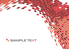 Red squares. Business background of squares mosaic texture, vector illustration Royalty Free Stock Photos