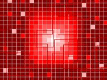 Red Squares Background Stock Image