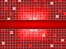 Red Squares Background With Center Space Stock Images