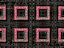 Red squares geometric shapes pattern Stock Photography