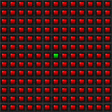 Red Squares - One Green - Background Royalty Free Stock Photo