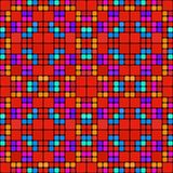 Red squares pattern Royalty Free Stock Image