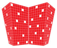 Red Squares Perspective Design Stock Photography