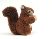 Red squirrel toy Royalty Free Stock Image