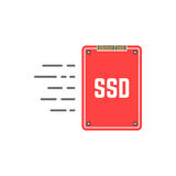 Red ssd like fast data transmissio Royalty Free Stock Photo