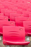 Red Stadium Chairs Stock Image