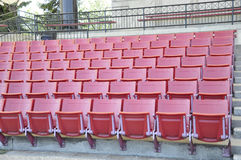 Red stadium seating Royalty Free Stock Image
