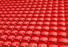 Red stadium seats Royalty Free Stock Photos