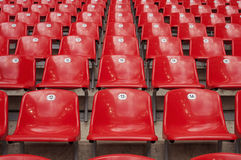 Red Stadium Seats Royalty Free Stock Photo