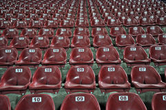 Red stadium seats Stock Image