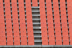 Red stadium seats Royalty Free Stock Images