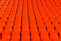 Red stadium seats background Royalty Free Stock Images