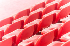 Red stadium seats Royalty Free Stock Photography