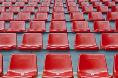 Red stadium seats Royalty Free Stock Image