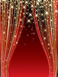 Red Stage Royalty Free Stock Photography