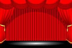 Red stage background. A vector illustration of a red stage background Stock Photo