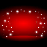 Red stage background. With stars Stock Image