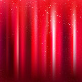 Red stage background with Magical Sparkles Stock Photo