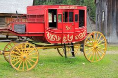 Red Stage Coach Stock Photo