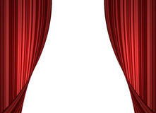 Red stage curtain vector illustration