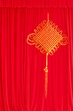 Red stage curtain Stock Photos