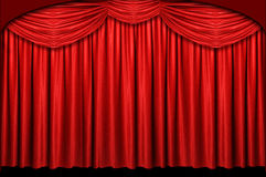 Red Stage Curtain. With arch entrance Royalty Free Stock Image