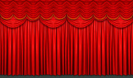 Red Stage Curtain. With arch entrance Royalty Free Stock Photos